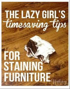 lazy staining wood